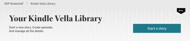 Kindle Vella start page